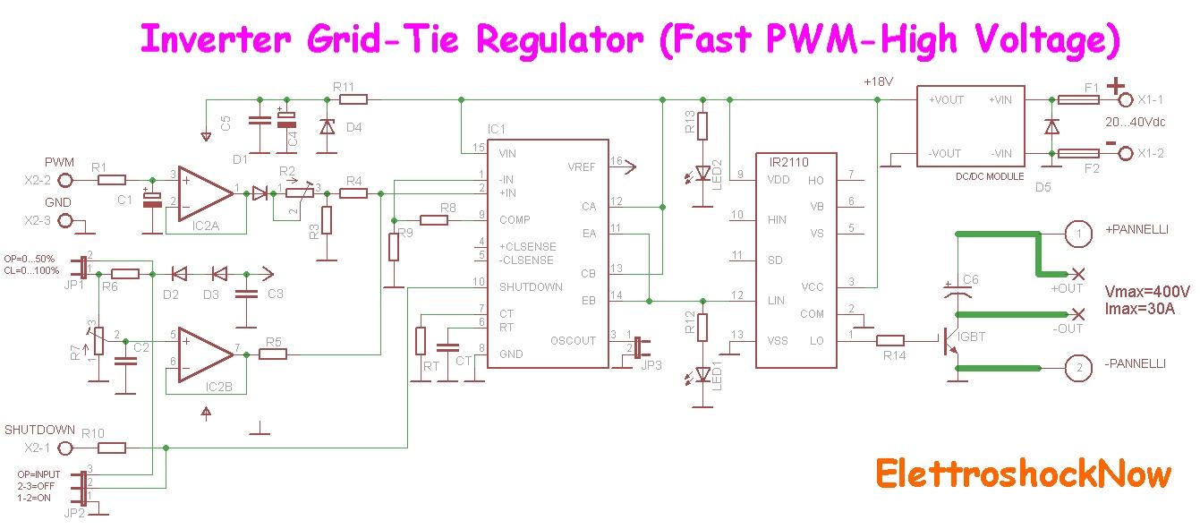 Schema Elettrico Per Inverter : Come gestire un inverter grid tie pagina solare