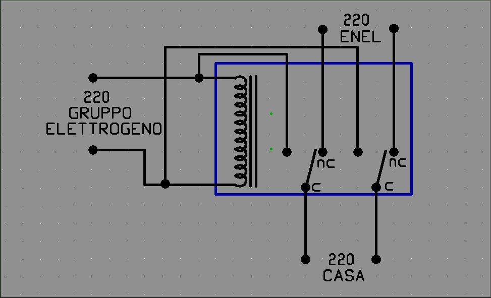 Schema Elettrico Di Un Gruppo Elettrogeno : Collegamento di gruppo elettrogeno pagina sezione
