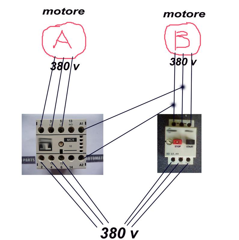 Schema Elettrico Teleruttore : Teleruttore salvamotore pagina sezione generica
