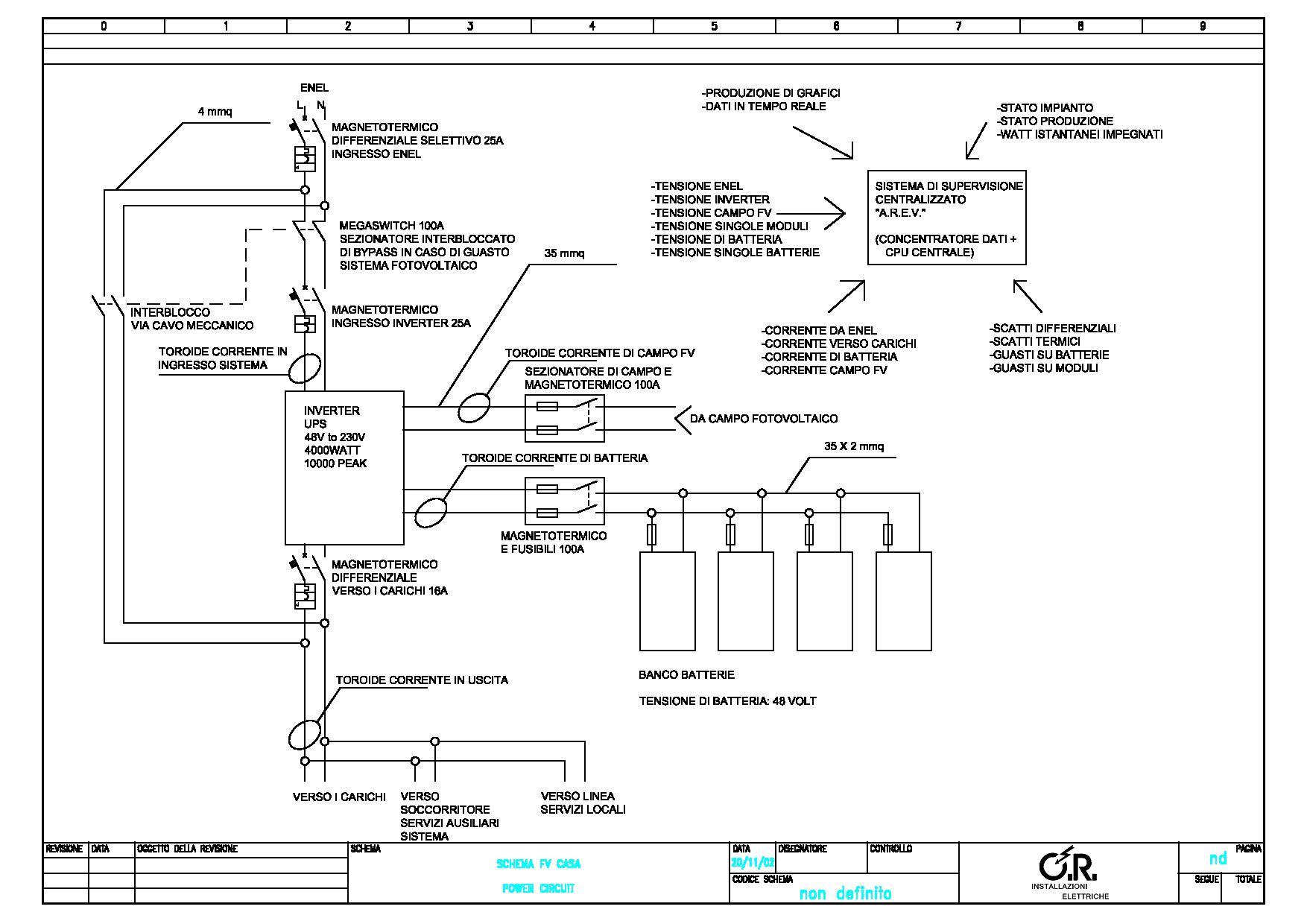 Schema Elettrico Unifilare Impianto Fotovoltaico : Progettino impianto fotovoltaico pagina solare