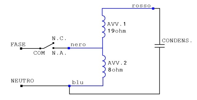 Schema Elettrico Pompa Sommersa : Cablaggio motore ac pagina motori termici