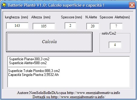Batterie plant calcolo superficie e capacit pagina 1 for Calcolo superficie