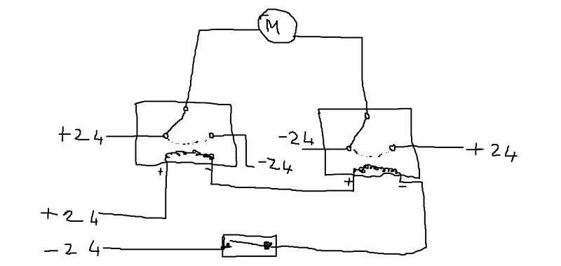 Schema Elettrico Invertitore : Schema elettrico inversione di polarità