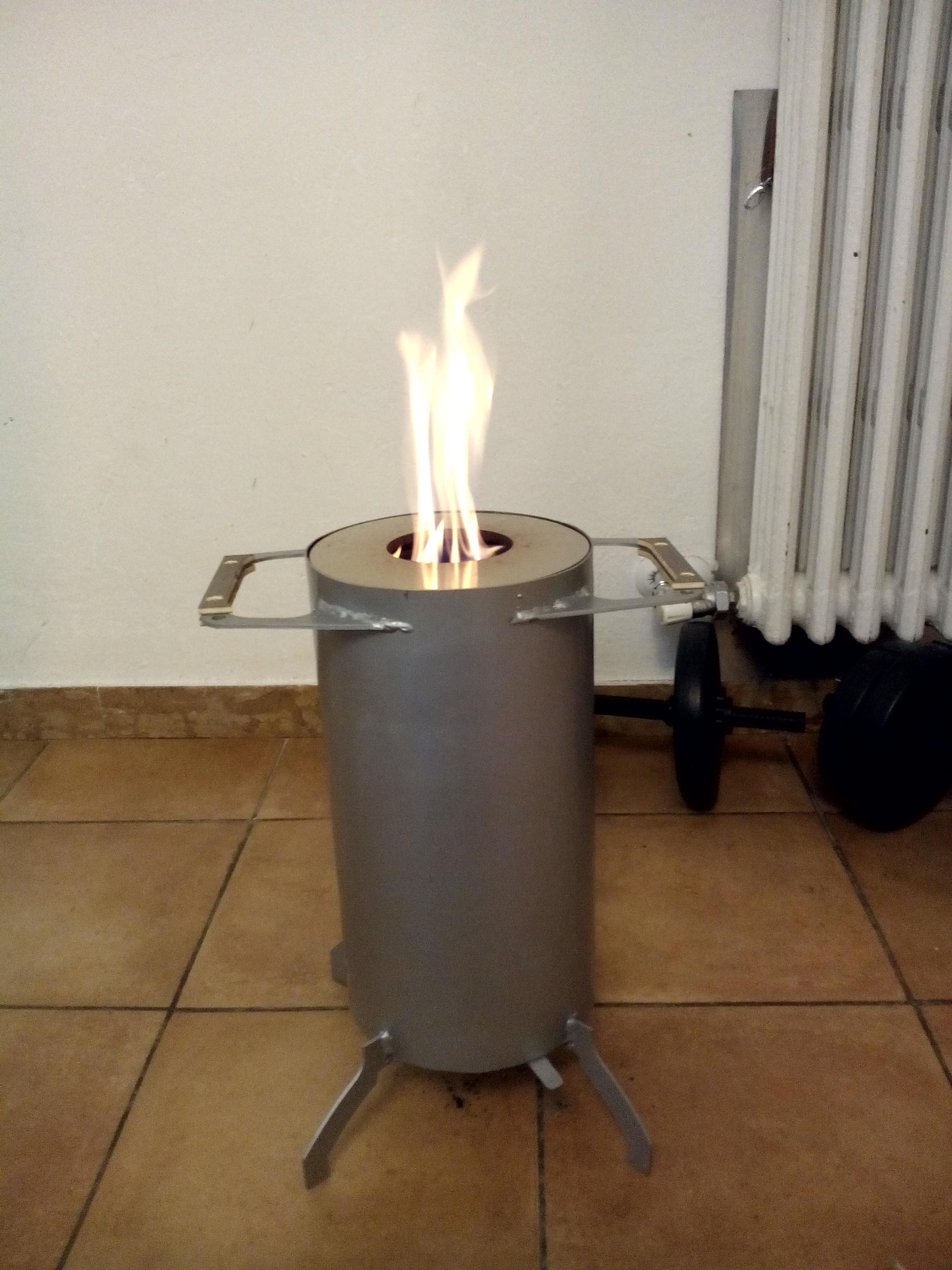 Stuffa pirolitica fai da te autonomia 4 09 ore con 5kg di pe pagina 1 stufe termostufe - Stufe fai da te ...