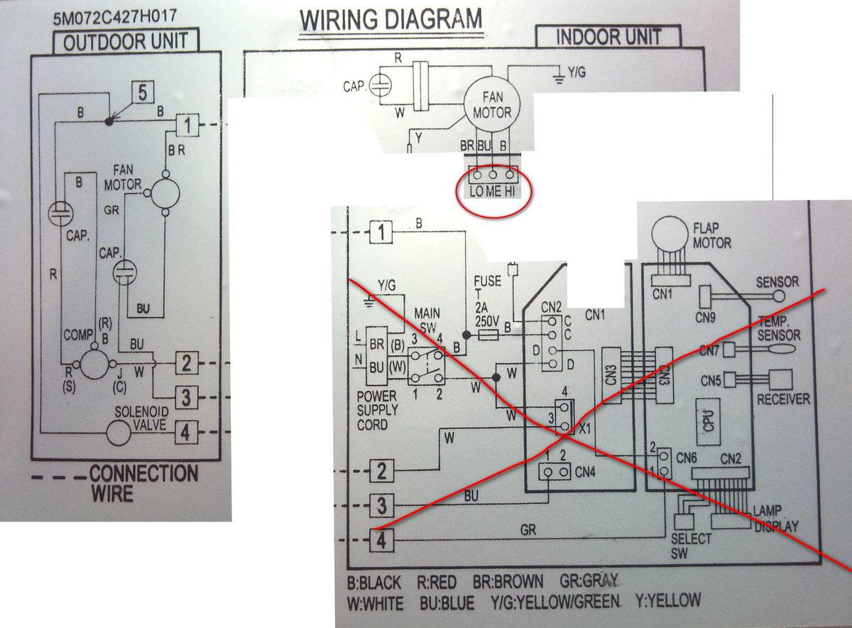 Schema Elettrico Ventilatore Velocità : Avviare manualmente ventola di uno split di climatizzatore pagina 5
