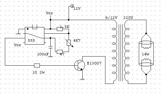 Schema Elettrico Per Lampade Al Neon : Guida accendere lampade risparmio energetico con v